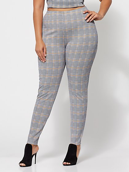 FTF Tabbie Plaid Skinny Pants - New York & Company