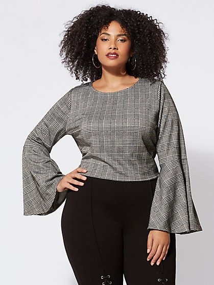 FTF Thandie Bell-Sleeve Top - New York & Company