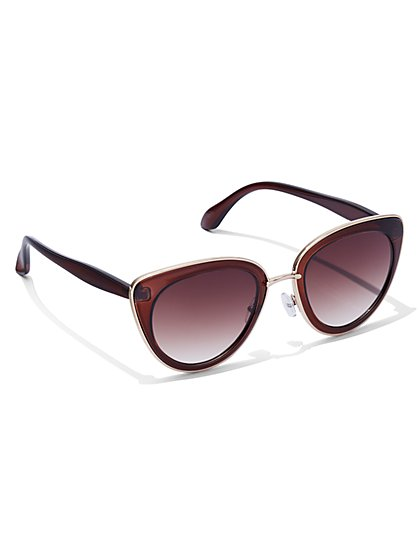 FTF Tortoise Cat Eye Sunglasses - New York & Company