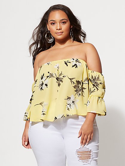 FTF Zoe Floral Blouse - New York & Company