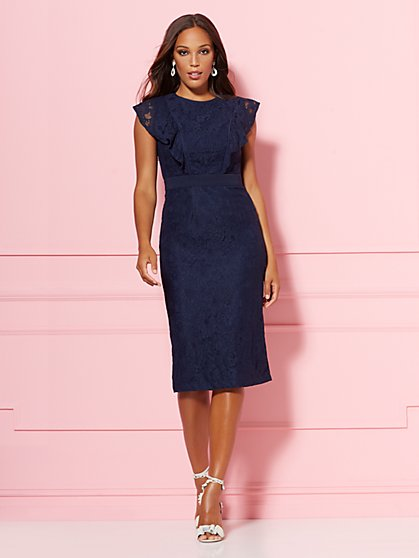 Fabiola Lace Sheath Dress - Eva Mendes Party Collection - New York & Company