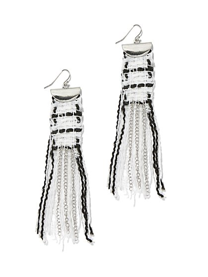 Fabric Chain-Link Drop Earring - New York & Company