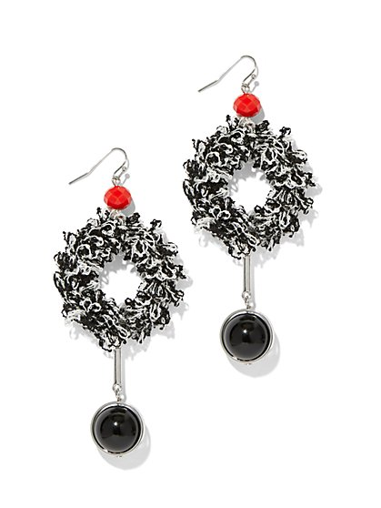 Fabric Statement Drop Earring - New York & Company