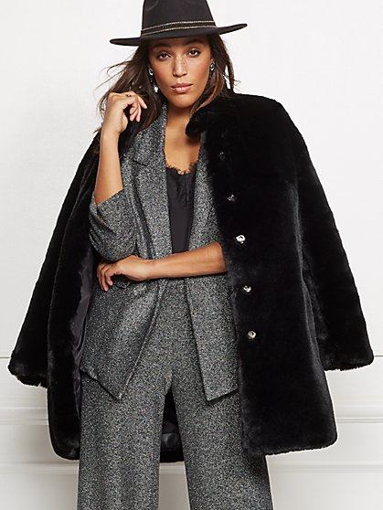 Faux-Fur Coat - New York & Company