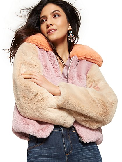 Faux Fur Jacket - New York & Company