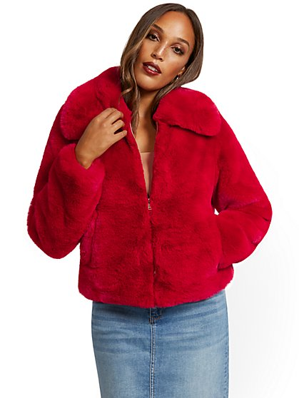 Faux-Fur Jacket - New York & Company