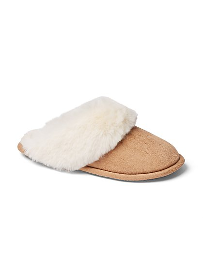 Faux-Fur Scuff Slipper - New York & Company