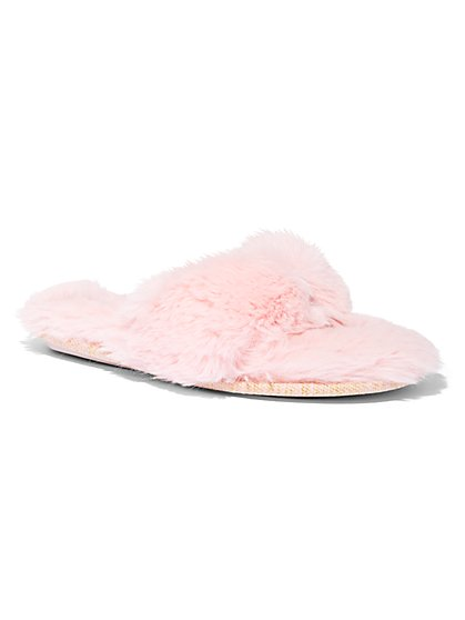 Faux-Fur Slipper - New York & Company