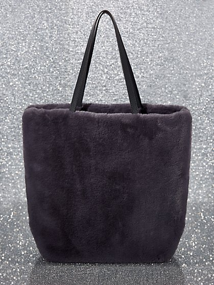 Faux-Fur Tote Bag - New York & Company