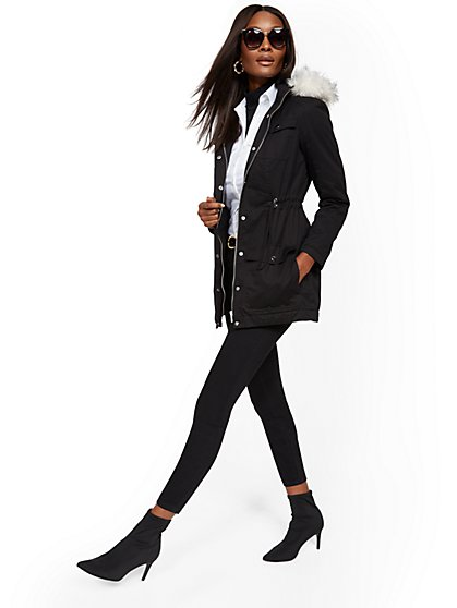 df770d5457a Faux Fur-Trim Sherpa-Lined Cozy Anorak - New York   Company ...