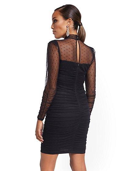 62877f1b78 ... Faux-Leather Colorblock Sheath Dress - 7th Avenue - New York   Company  ...