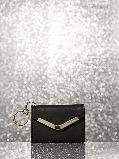 Faux-Leather ID Holder Keyring - New York & Company