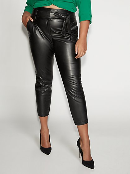 Faux-Leather Jogger Pant - Gabrielle Union Collection - New York & Company