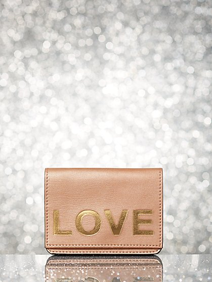 Faux-Leather Message Wallet - New York & Company