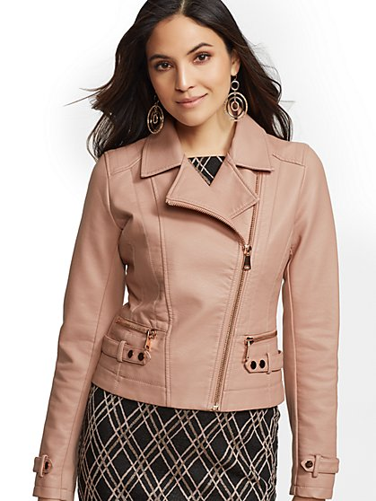 cc5018775d3 Faux-Leather Moto Jacket - New York & Company ...