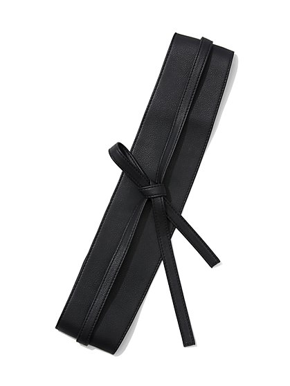 Faux-Leather Sash Belt - New York & Company