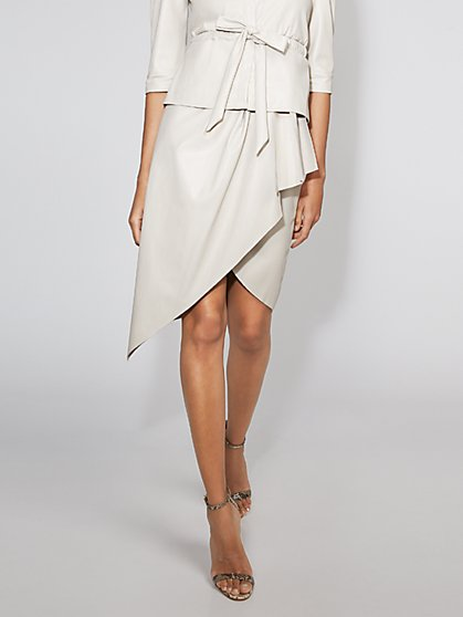 Faux-Leather Wrap Skirt - Gabrielle Union Collection - New York & Company