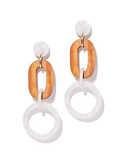 Faux Mother-Of-Pearl Drop Earring - New York & Company