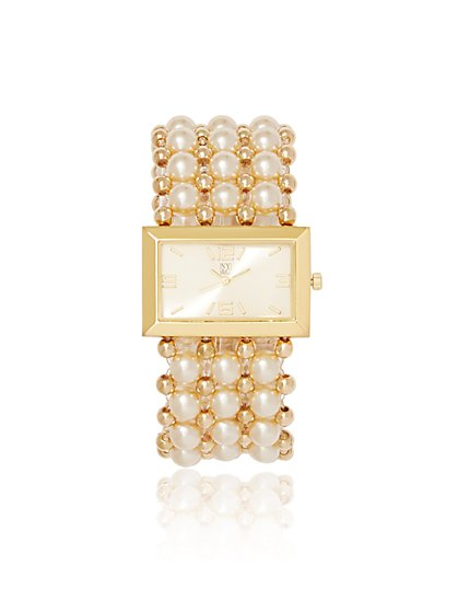Faux-Pearl Watch - New York & Company