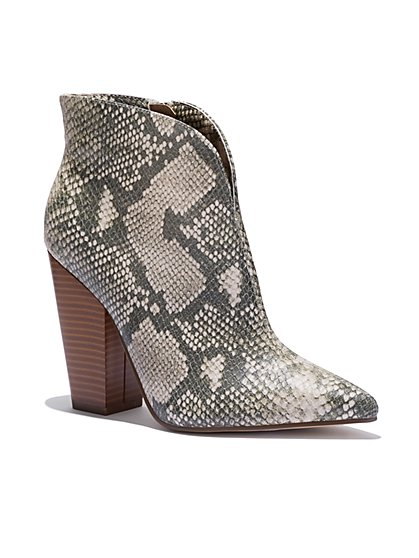 Faux-Snake Bootie - New York & Company