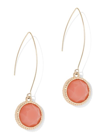 Faux-Stone Drop Earring - New York & Company
