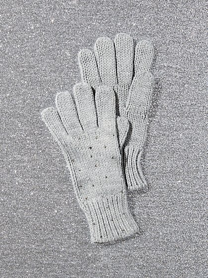 Faux-Stone Knit Glove - New York & Company