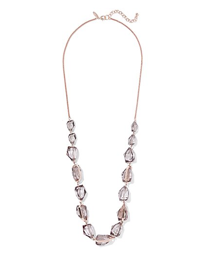 Faux-Stone Long Necklace - New York & Company
