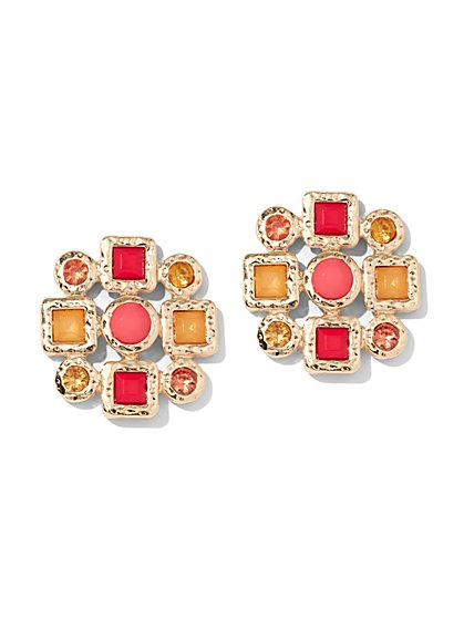 Faux-Stone Post Earring - New York & Company