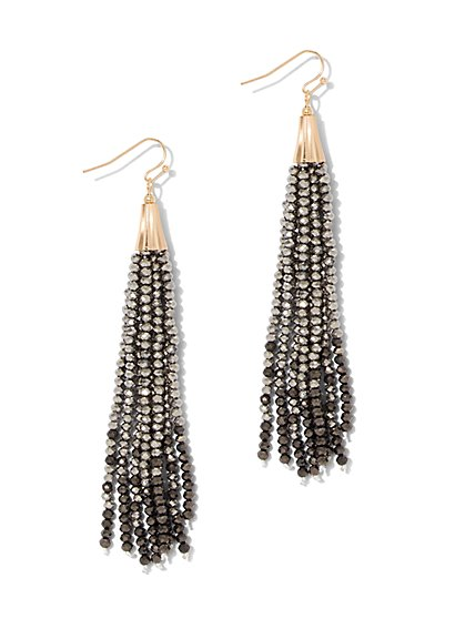 Faux-Stone Tassel Earring - New York & Company