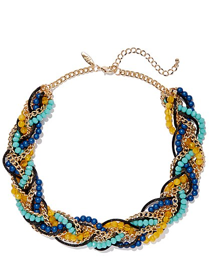 Faux-Stone Torsade Necklace - New York & Company