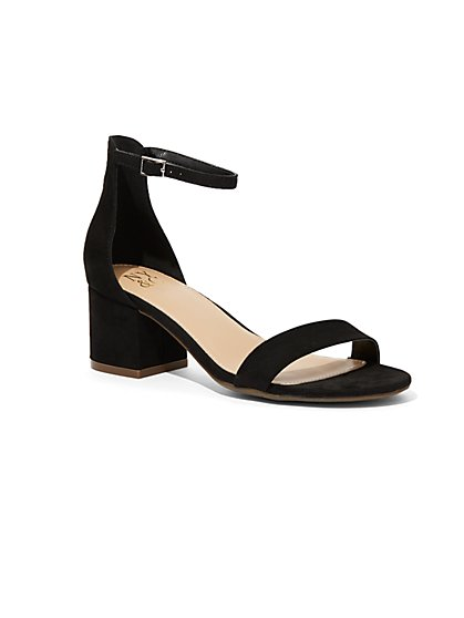 Faux-Suede Ankle-Strap Sandal - New York & Company