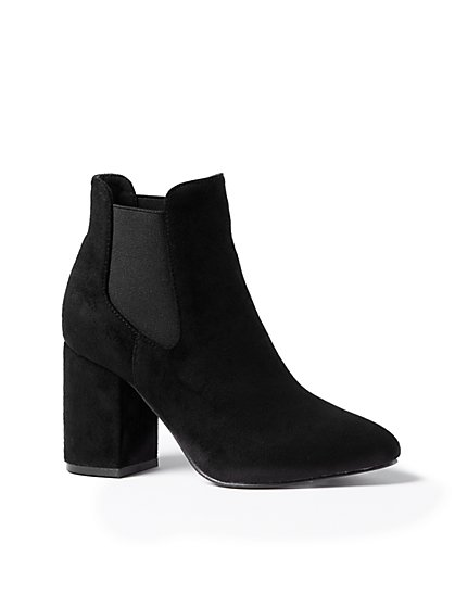 Faux-Suede Bootie - New York & Company