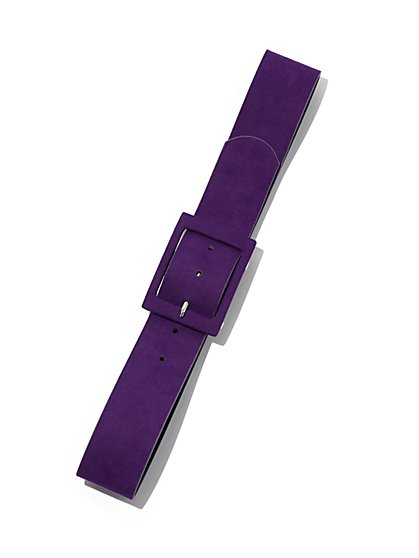 Faux-Suede Buckle Belt - Eva Mendes Collection - New York & Company