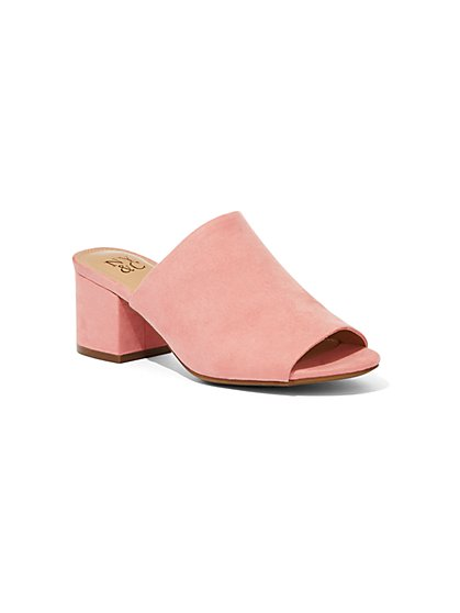 Faux-Suede Mule Slide Sandal - New York & Company