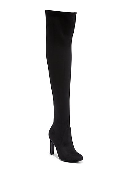 Faux-Suede Over-The-Knee Boot - New York & Company