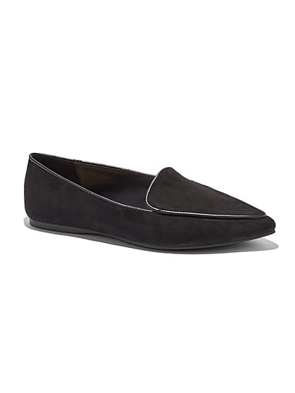 Faux-Suede Pointed-Toe Loafer - New York & Company