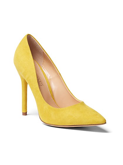 Faux-Suede Pump - Eva Mendes Collection - New York & Company