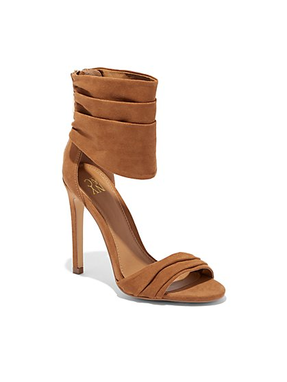 Faux-Suede Scrunch Sandal - New York & Company