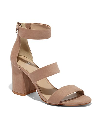 Faux-Suede Strappy Sandal - New York & Company