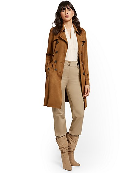 Faux-Suede Trenchcoat - New York & Company