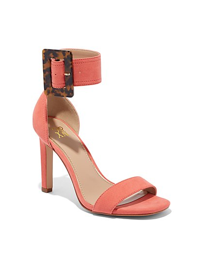 Faux-Tortoise Buckle Sandal - New York & Company