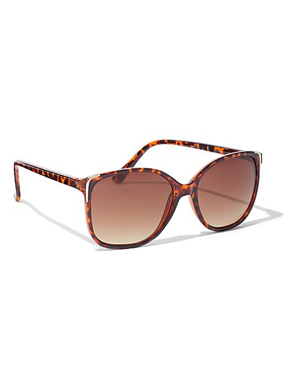 Faux-Tortoise Cat-Eye Sunglasses - New York & Company