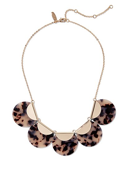 Faux-Tortoise Goldtone Statement Necklace - New York & Company