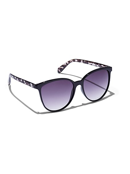Faux Tortoiseshell-Accent Sunglasses - New York & Company