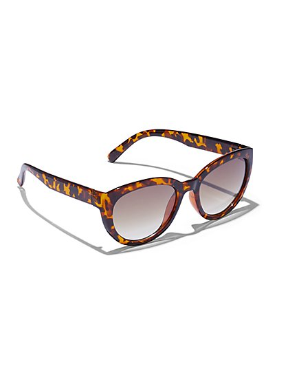 Faux-Tortoiseshell Sunglasses - New York & Company