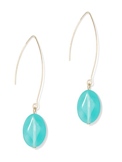Faux-Turquoise Drop Earring - New York & Company
