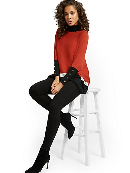 Feel Good High-Waisted No Gap Pull-On Super-Skinny Jeans - Black - New York & Company