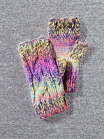 Fingerless Rainbow Glove - New York & Company