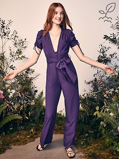First Crush Jumpsuit in Responsibly-Sourced Viscose - New York & Company