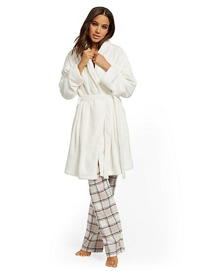 Fleece Cozy Robe - New York & Company